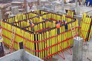 лифтовых шахт балочно-ригельная