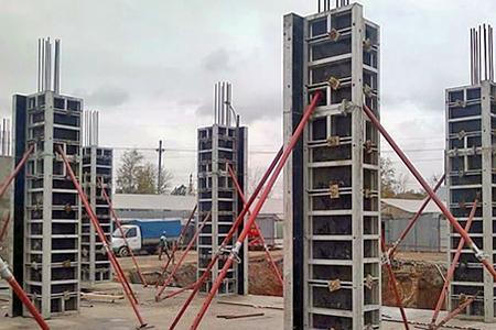 Опалубка колонн крупнощитовая алюминиевая Крамос