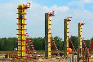 Опалубка высоких колонн балочно-ригельная
