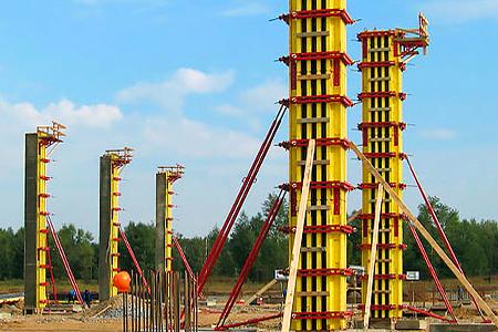 высоких колонн балочно-ригельная